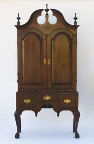 mahogany, desk, chippendale