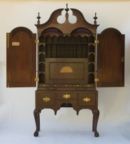 mahogany, desk, chippendale