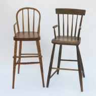 children's, high, chairs, maple