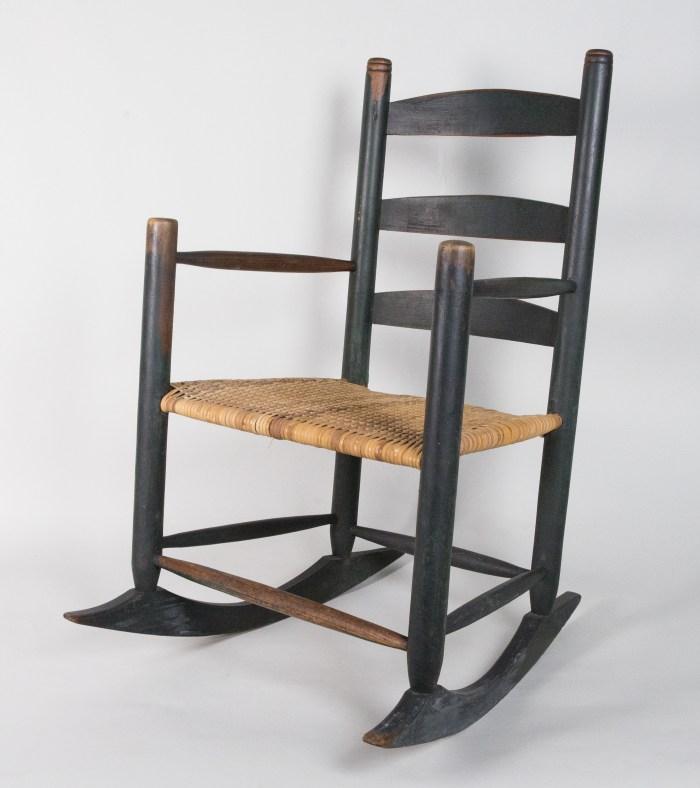 ladderback, rocking, chair, maple