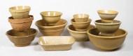 yelloware, bowls, pans