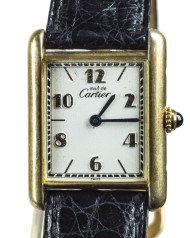cartier, wristwatch, leather