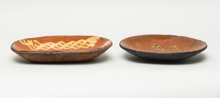 slip, decorated, plates