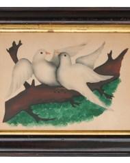 watercolor, doves