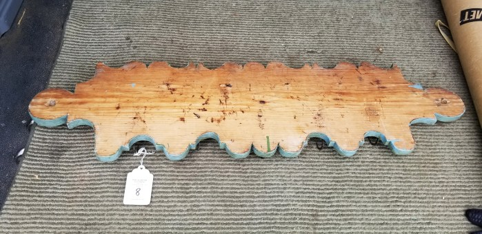carved wood wall rack