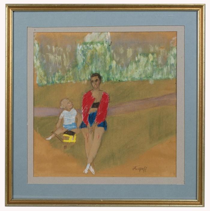 portraits, paintings, arapoff, watercolor