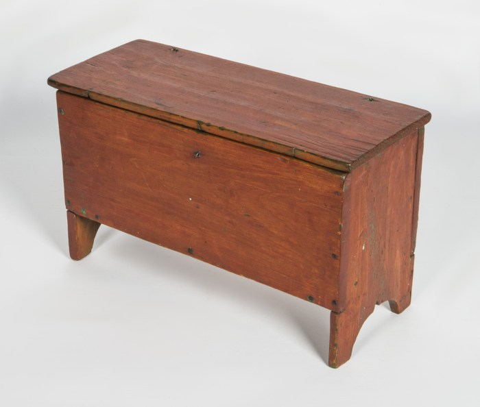 19th C. Miniature Blanket Box