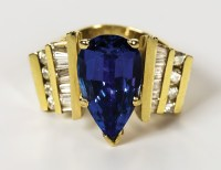 Ladies Tanzanite And Diamond Ring