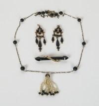 Bar Pin, Earrings, Necklace