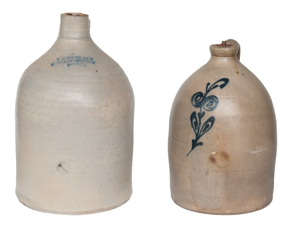 Two 19th C. Stoneware Jugs