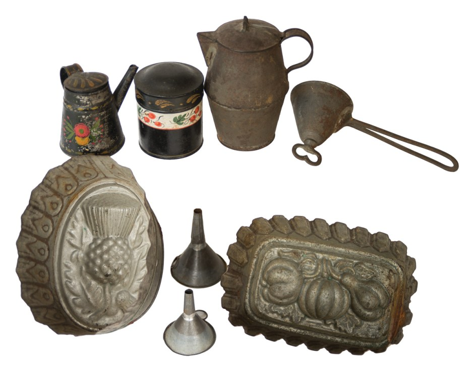 Collection of Tinware