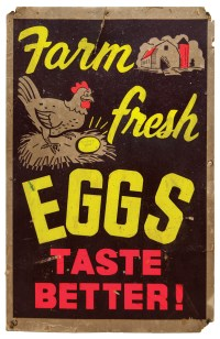 "Poster ""Farm Fresh Eggs Taste Better!"""