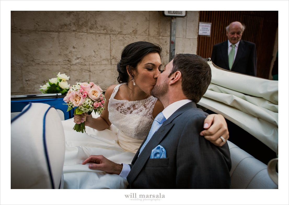 Boda de Cristina y David beso