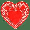 Heart-doilie