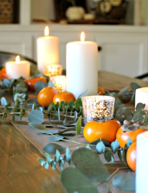 Natural Elements Thanksgiving Table and ...