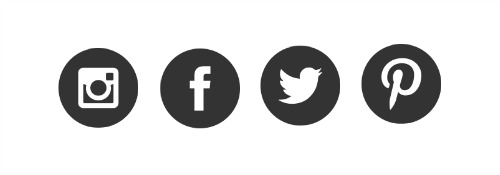 Image result for facebook, instagram, twitter in black