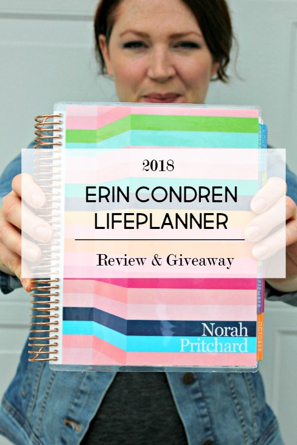 2018 Erin Condren Life Planner Review and Giveaway