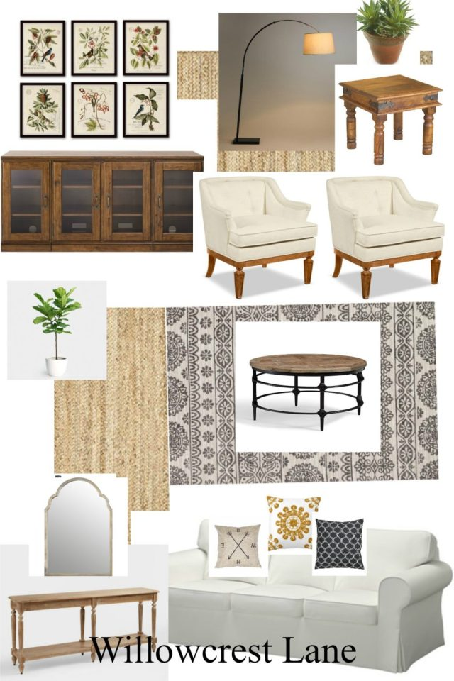 Willowcrest Lane vintage inspired living room