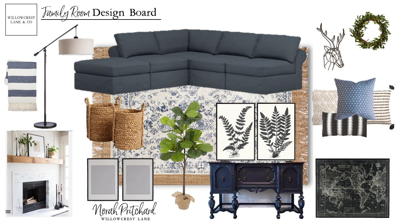 Modern Classic Family Room Design Board Norah Pritchard