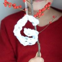 Finger Knit Letter Ornaments