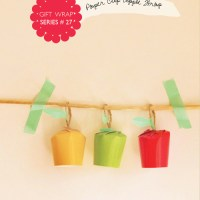Paper Cup Apple Gift Wrap