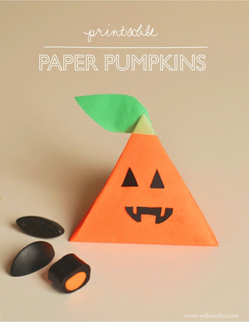 Paper Pumpkin Boxes