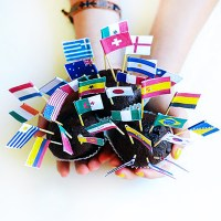 World Flag Cupcake Toppers
