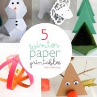 5 Winter Paper Printables