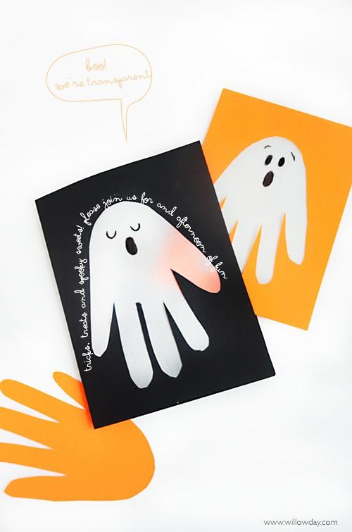 Transparent Handprint Cards