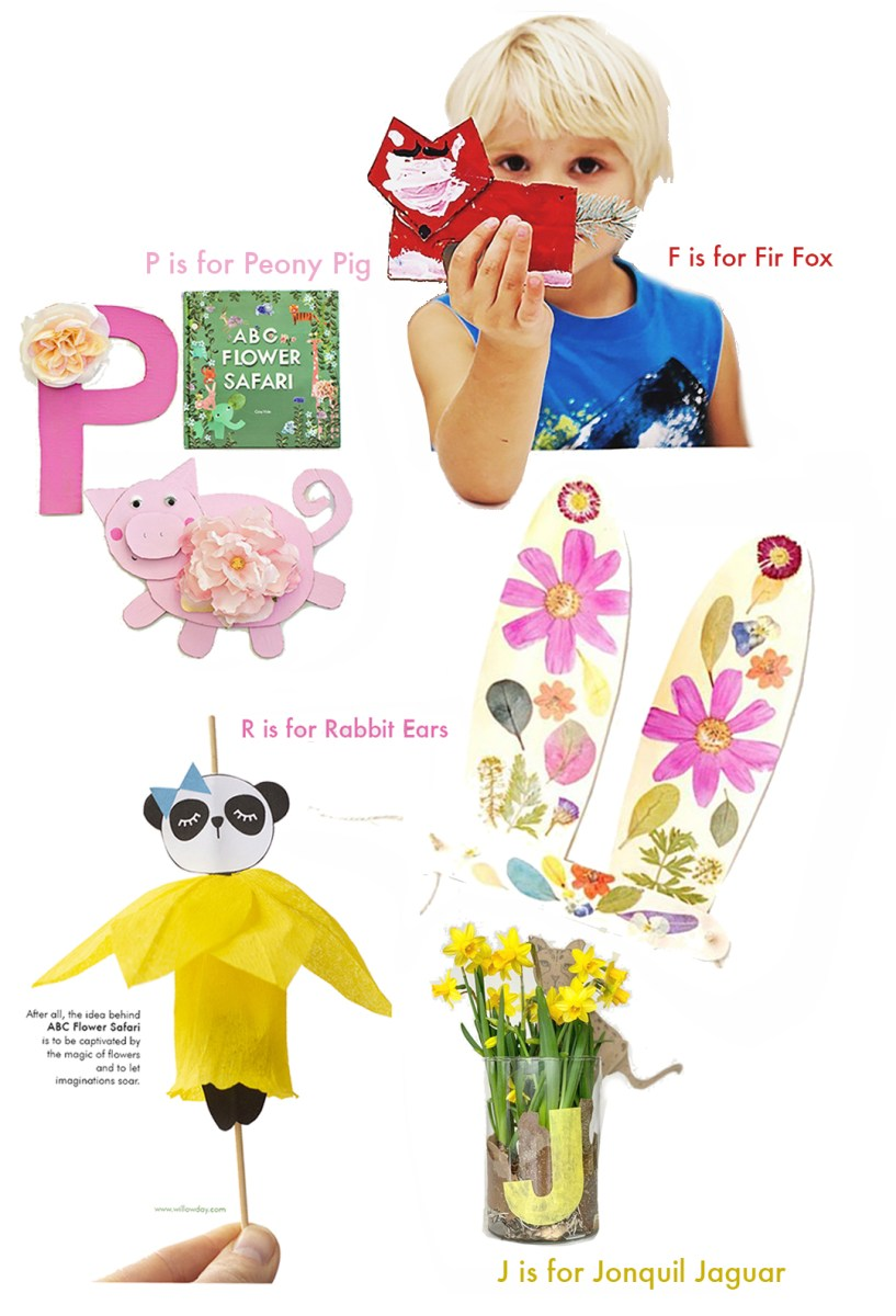 5 ABC Flower Safari Book Craft Ideas for kids