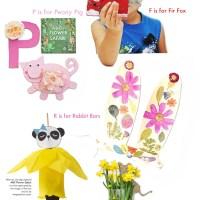 5 ABC Flower Safari Book Craft Ideas for kids