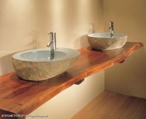 slab bathroom counter