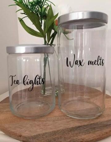 Tea Light and Wax Melt Storage Jars