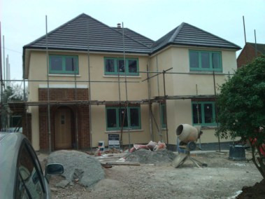 extension derbyshire with monocouche render system
