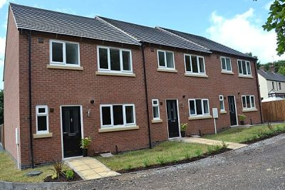 New build houses Swadlincote Derbyshire