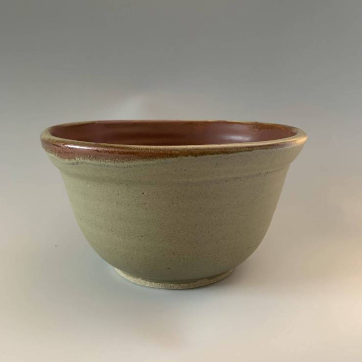 Bowl, satin green