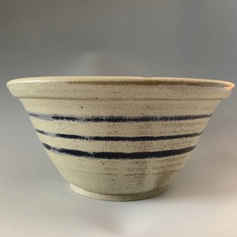 Bowl blue stripes.