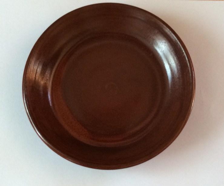 Plate, red, medium