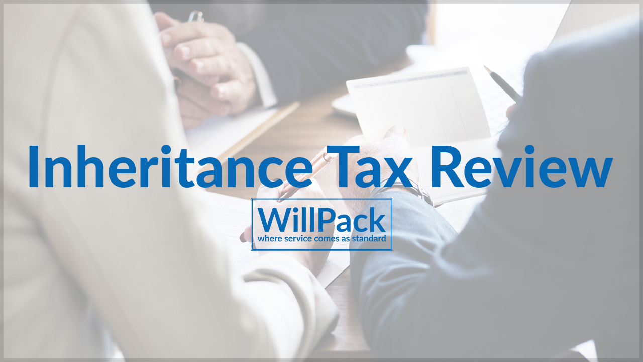 IHT, Inheritance, Tax, people, paper, table, pen, desk, suit, adults, review, willpack, logo, blue, text