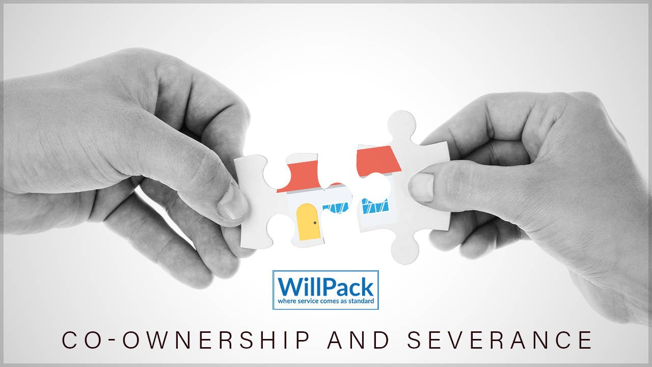 Hands, jigsaw, puzzle, piece, spit, house, SEV, severance, tenancy, black & white, logo, WillPack