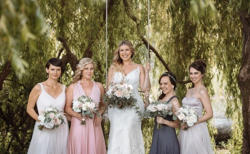 wedding party boho westcoast