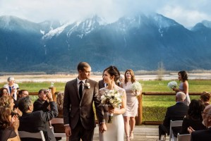 outdoor ceremony mountains