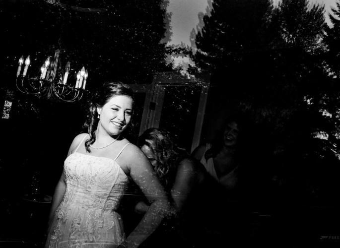 005 - reflection wedding dress photo