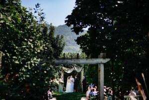 020 - outdoor garden mountain wedding ceremony