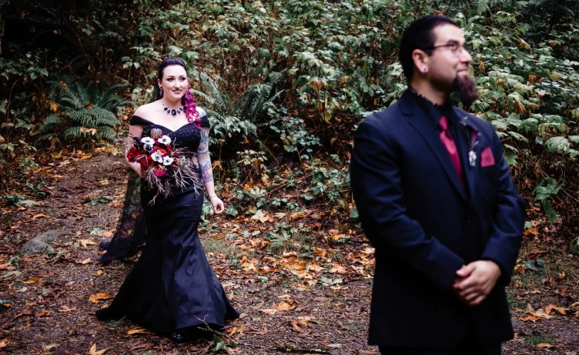 003 - first look black wedding dress
