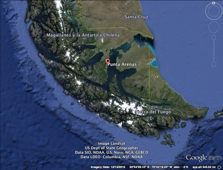 Punta Arenas Location