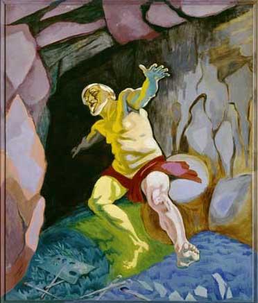 Trilogien billede 1 Tizian døende J.F. Willumsen