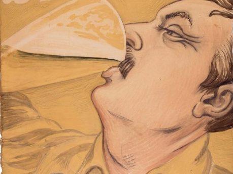 J.F. Willumsen Skæve streger Tuborgplakat dansk plakatkunst