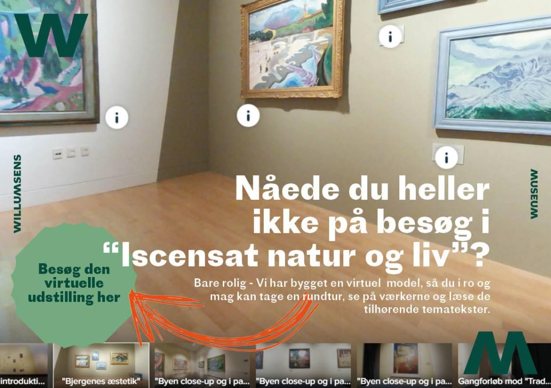 Screenshot fra den virtuelle tour i iscenesat natur og liv