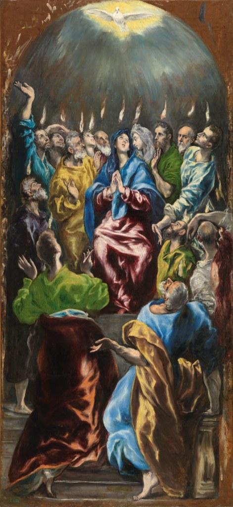 El Greco. Pinseunderet. Ca. 1600. Olie på lærred, 275 x 127 cm. Museo del Prado, Madrid